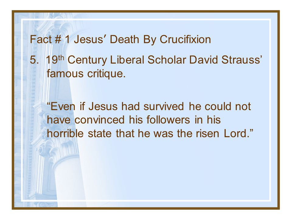 """JAMA March 21,1986, p. 1463 """"Clearly, the weight of historical and medical evidence indicates that Jesus was dead before the wound to his side was inf"""