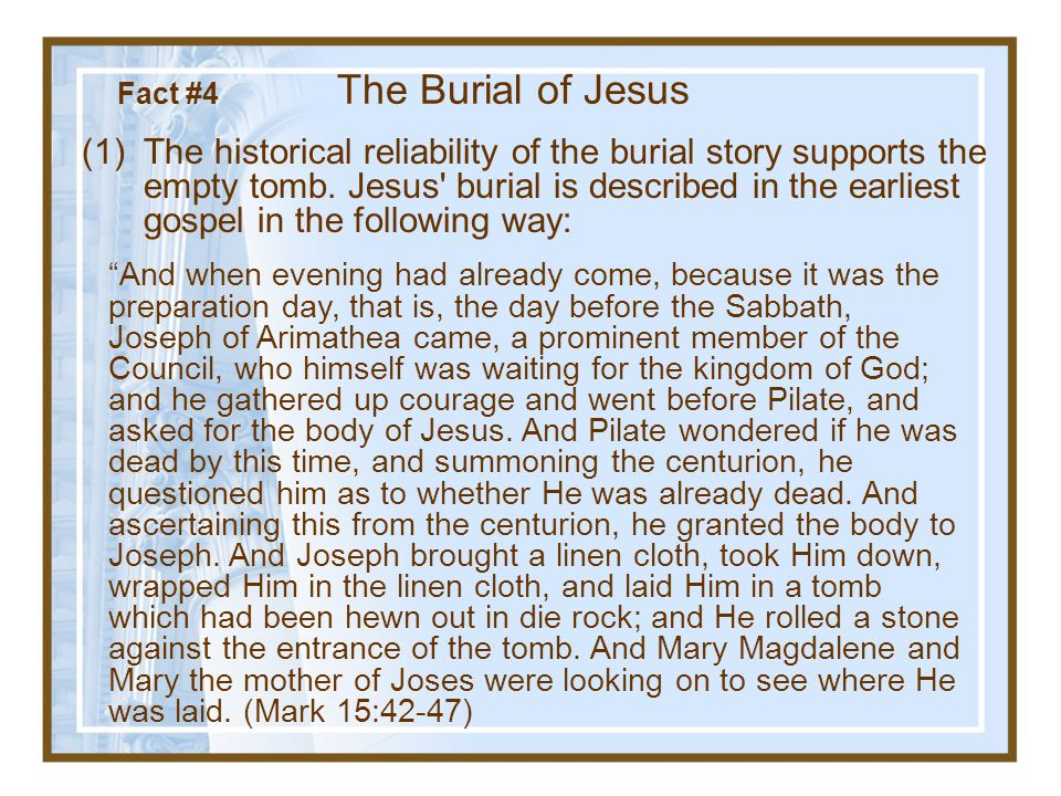Fact #3 Something occurred that convinced others that he had been resurrected and had appeared to them.