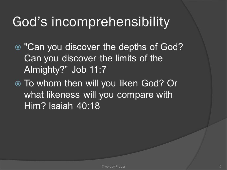 God's incomprehensibility 