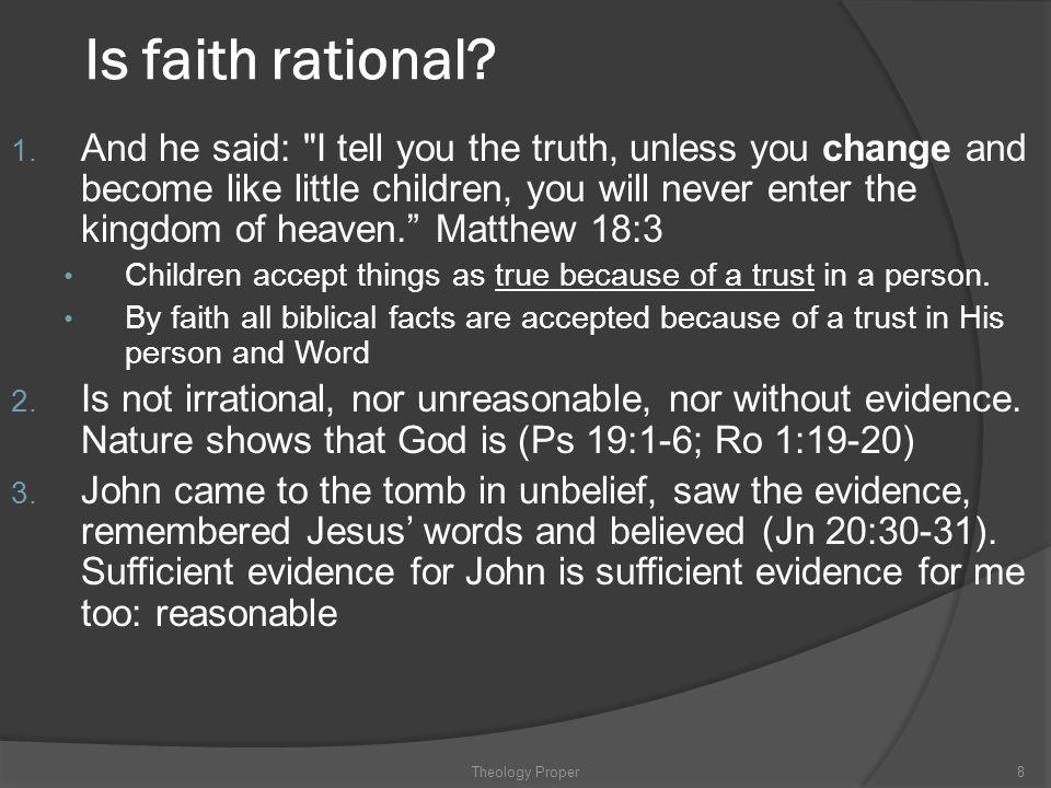 Is faith rational? 1. And he said:
