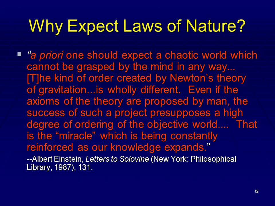 12 Why Expect Laws of Nature.