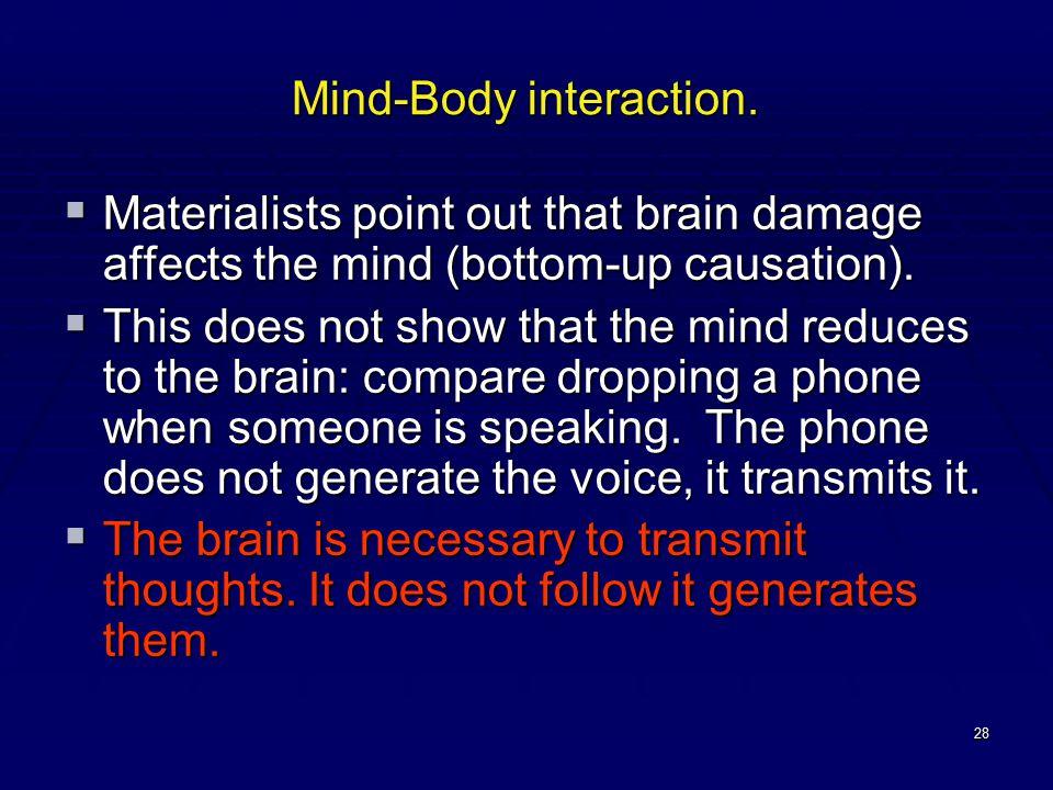 28 Mind-Body interaction.