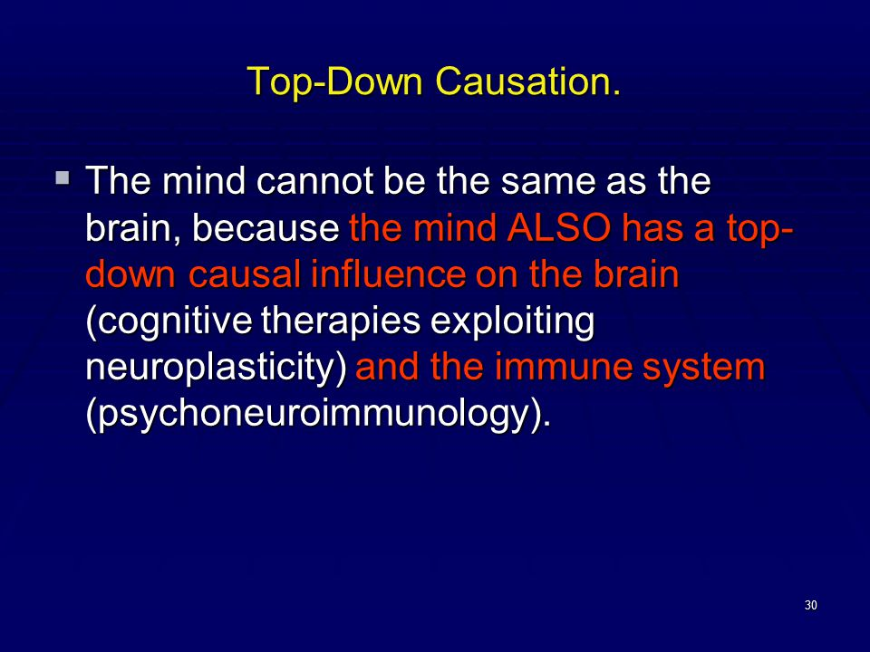 30 Top-Down Causation.