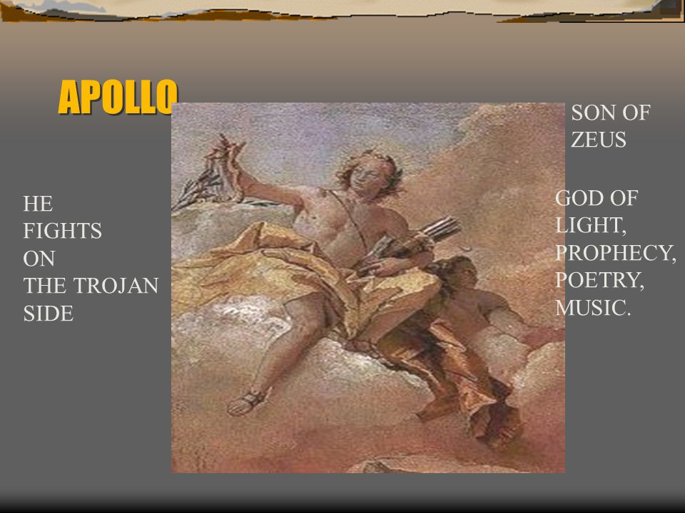 APOLLO RAINING DOWN ARROWS ON THE GREEKS HIS PRIEST, CHRYSES, BRINGS RANSOM TO AGAMEMNON IN THE HOPE THAT HE WILL RELEASE HIS DAUGHTER, CHRYSEIS AGAMEMNON REFUSES DESTRUCTION IS BROUGHT ON THE GREEKS
