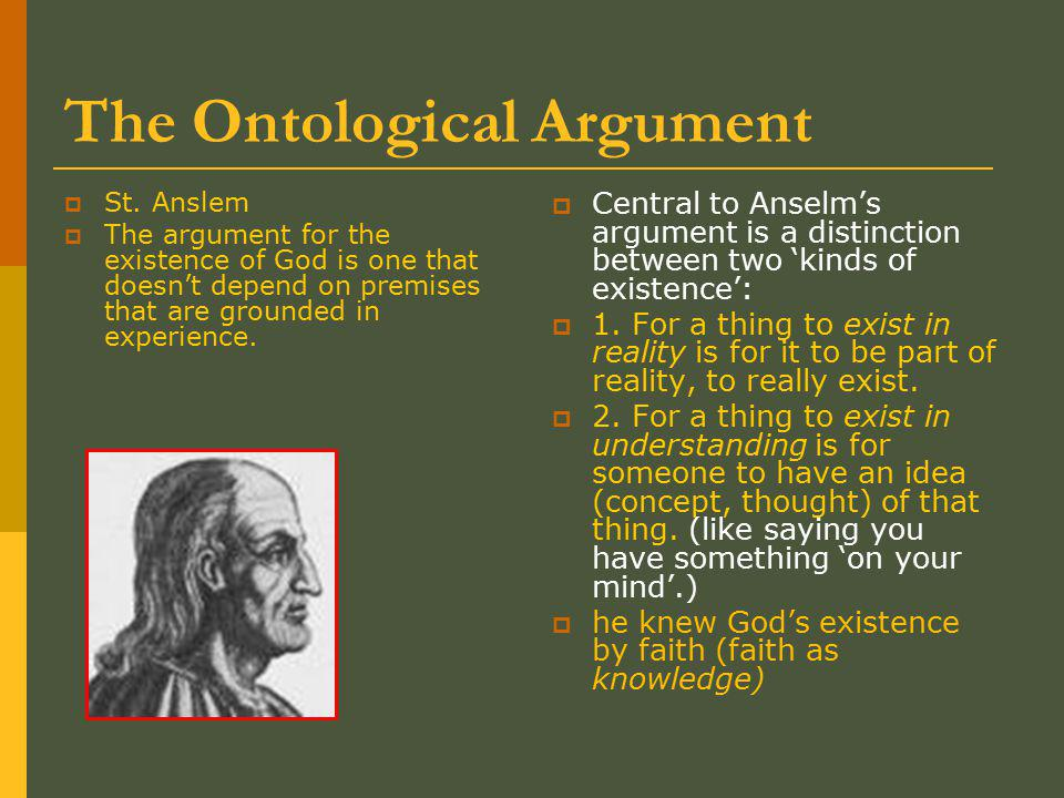 The Ontological Argument  St.