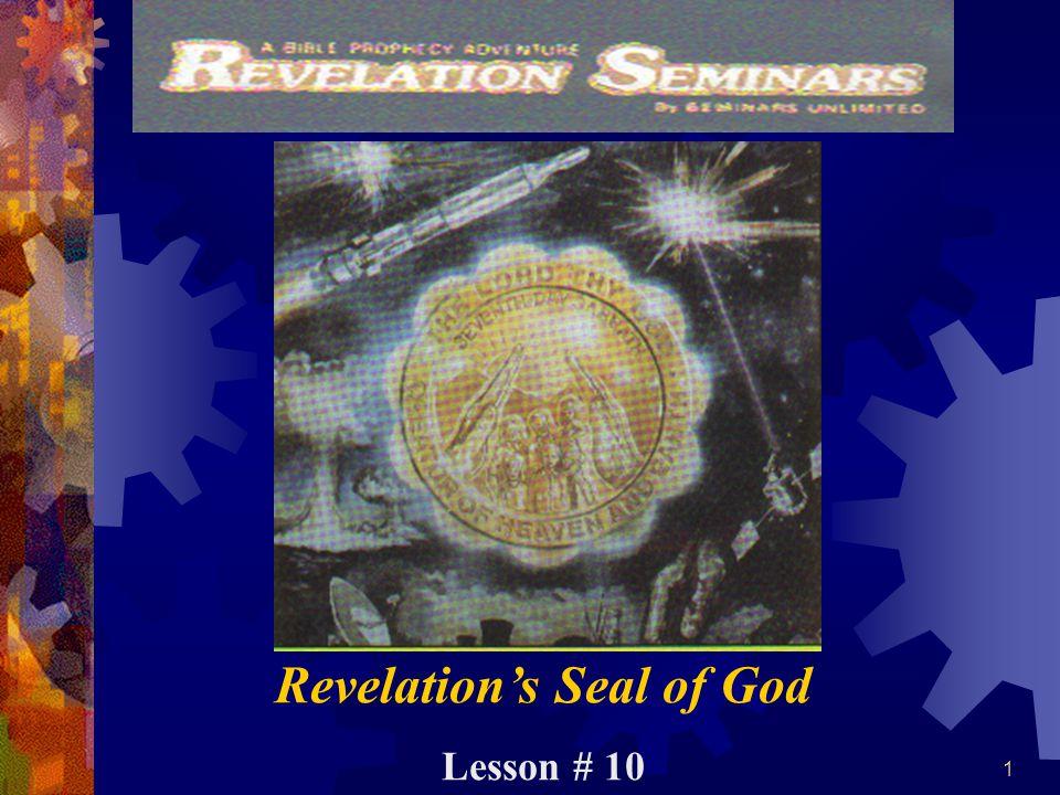 1 Revelation's Seal of God Lesson # 10
