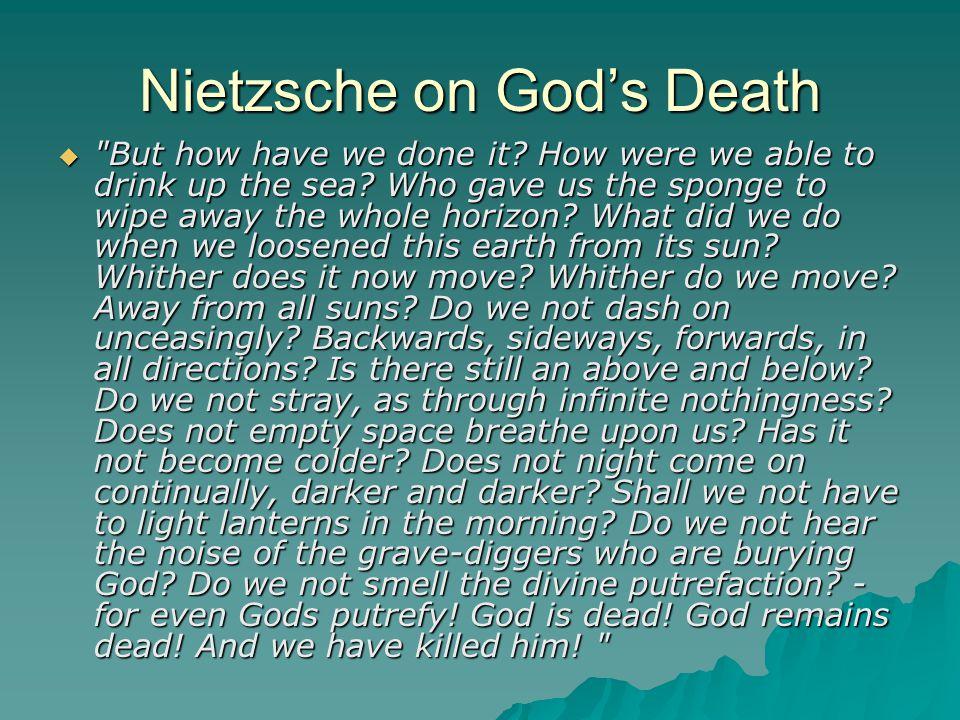 Nietzsche on God's Death 