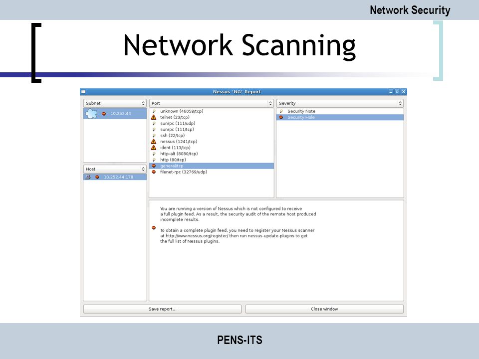 Network Security PENS-ITS Network Scanning