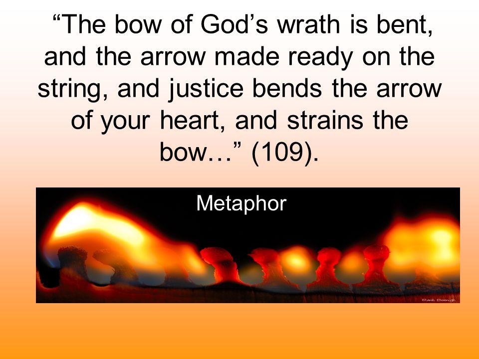 …his wrath towards you burns like fire; (81). Simile
