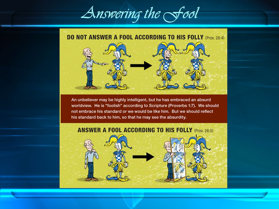 Answering the Fool