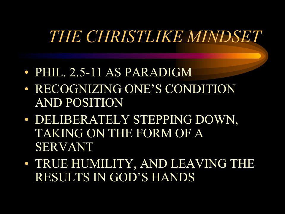 THE CHRISTLIKE MINDSET PHIL.