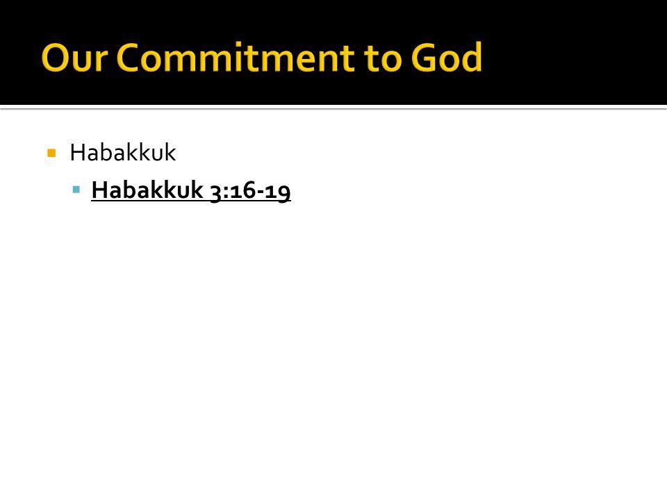  Habakkuk  Habakkuk 3:16-19