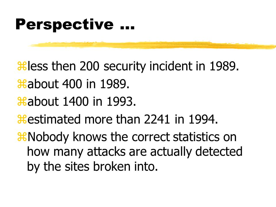 Perspective... zless then 200 security incident in 1989.