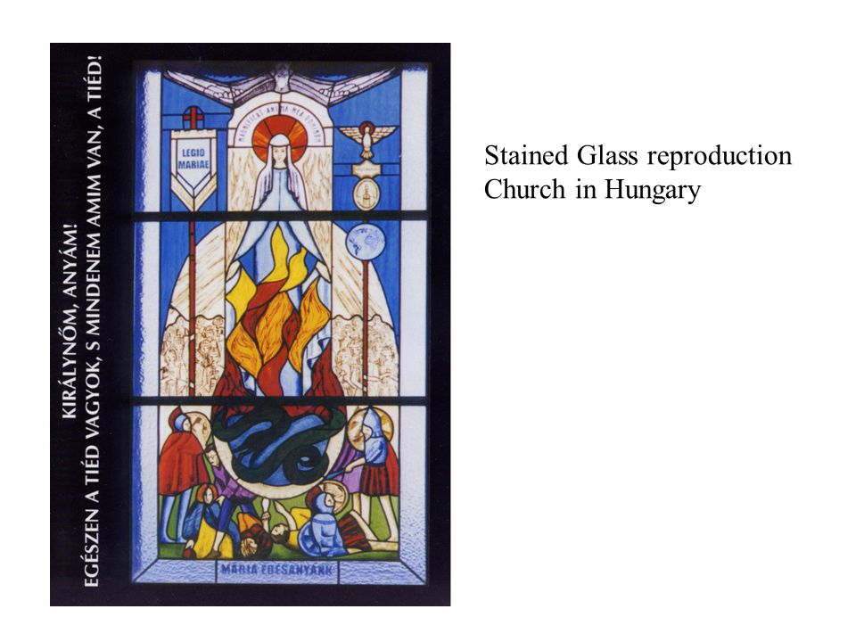 Stained Glass reproduction Church in Hungary
