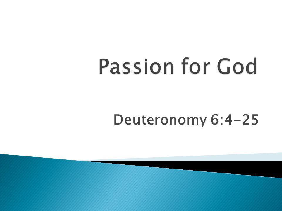 Deuteronomy 6:4-25