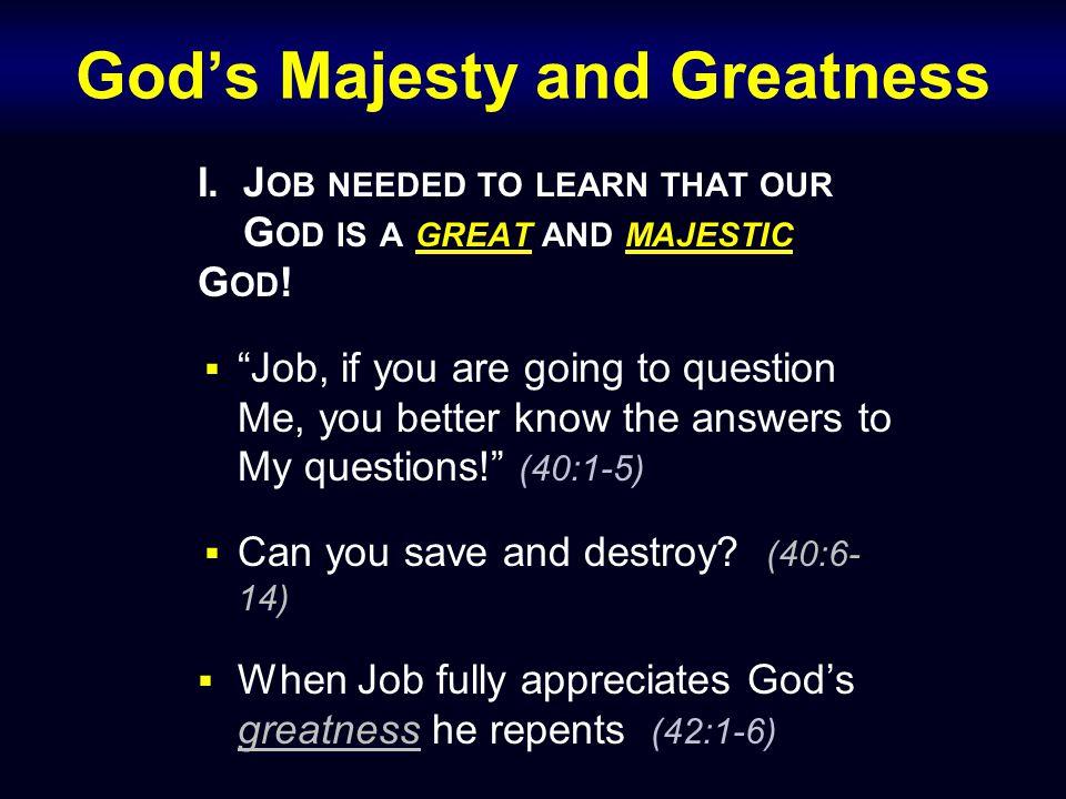 God's Majesty and Greatness II.