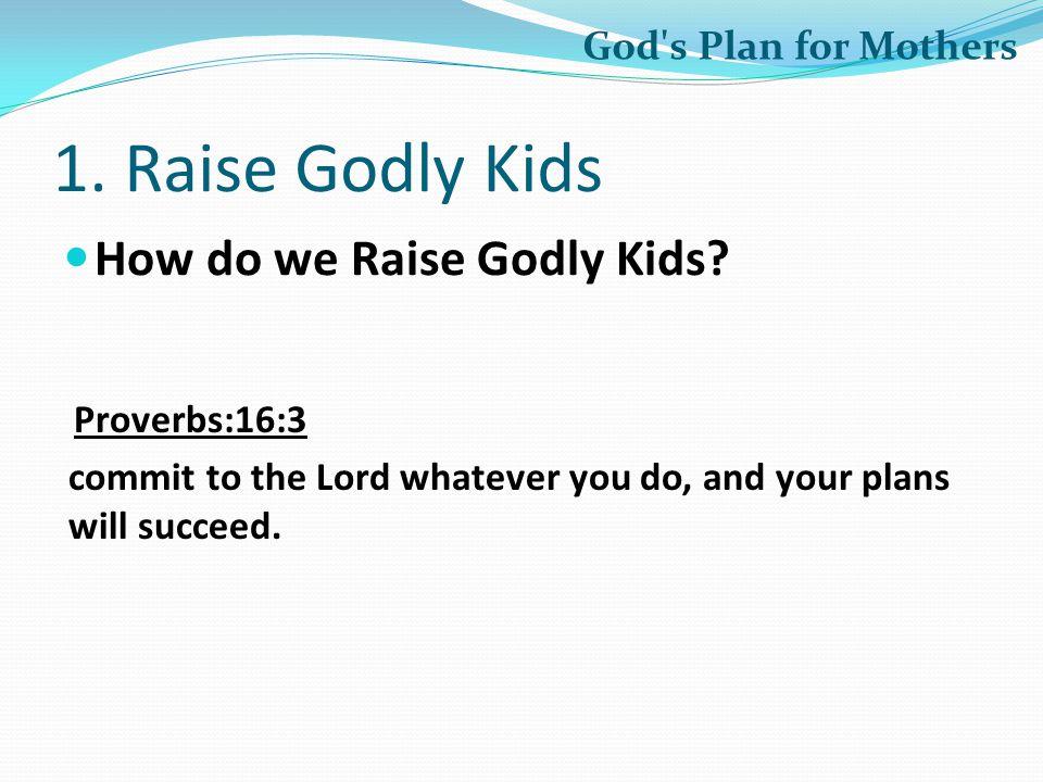 1.Raise Godly Kids How do we Raise Godly Kids.