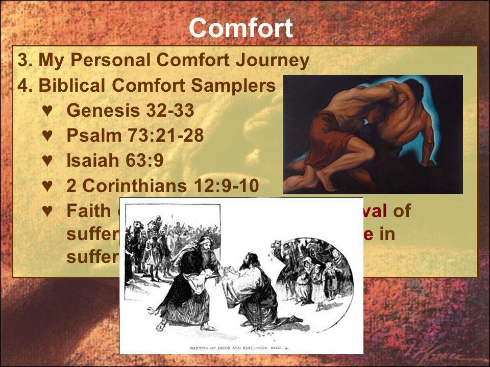 3. My Personal Comfort Journey 4.