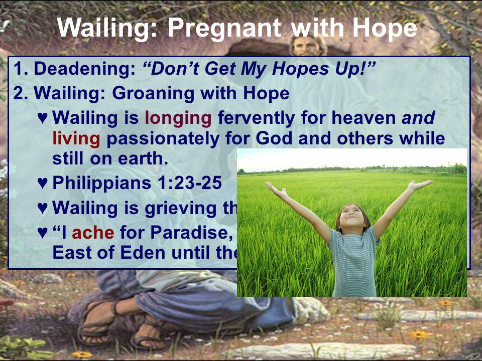 1. Deadening: Don't Get My Hopes Up! 2.