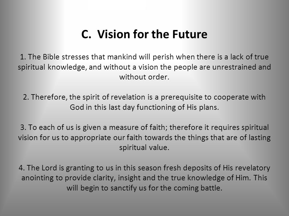 C. Vision for the Future 1.