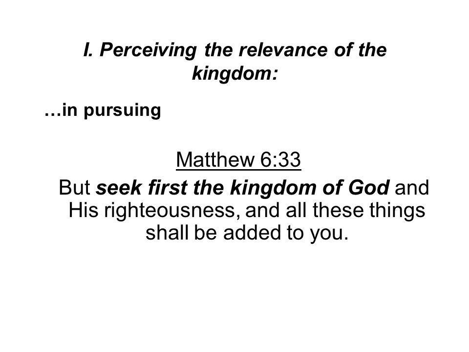 II.The difficulty of defining the kingdom of God A.