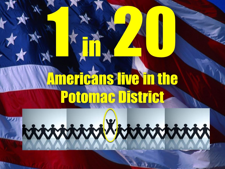 1 in 20 Americans live in the Potomac District