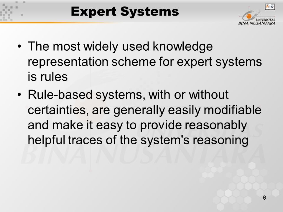 7 Expert Systems Architecture Allison 1993