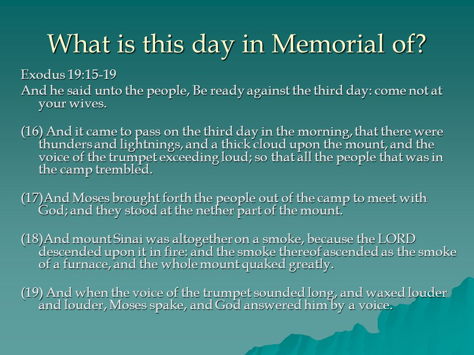 What is this day in Memorial of.