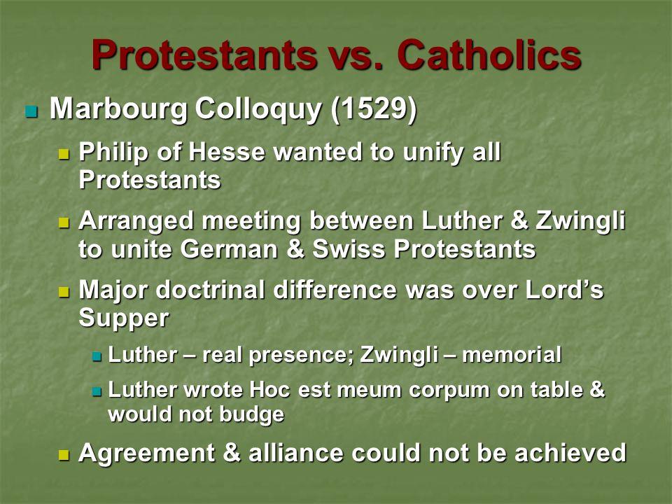 Protestants vs.