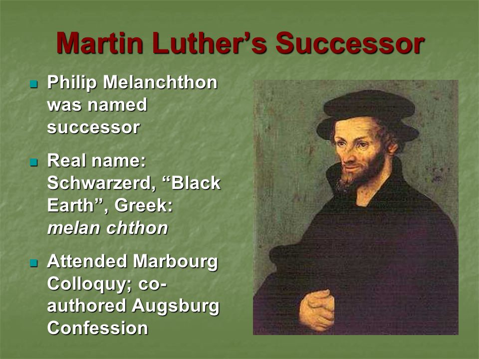 Martin Luther's Legacy Salvation: justification by grace through faith Salvation: justification by grace through faith Lord's Supper: consubstantiation – Christ's presence with the elements Lord's Supper: consubstantiation – Christ's presence with the elements Infant baptism Infant baptism Priesthood of the believer Priesthood of the believer Union of church & state – to retain support of German princes Union of church & state – to retain support of German princes Anti-semitism Anti-semitism