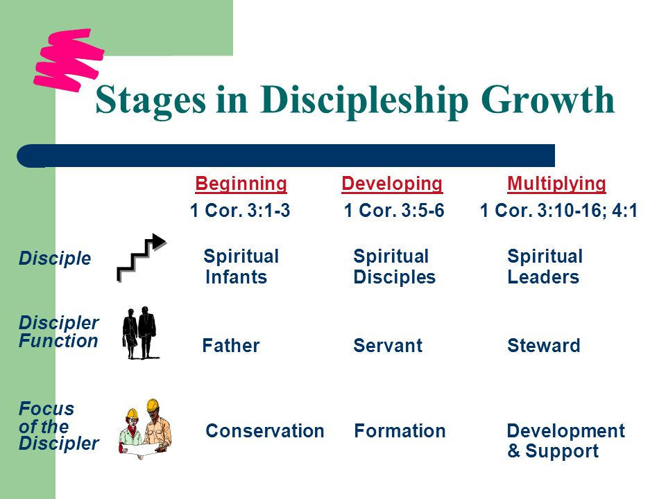 Stages in Discipleship Growth Beginning Developing Multiplying 1 Cor.