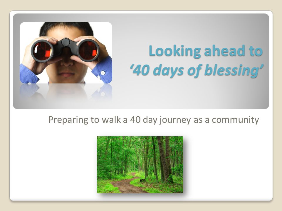 A natural step towards renewal Intentional Focused Renewal