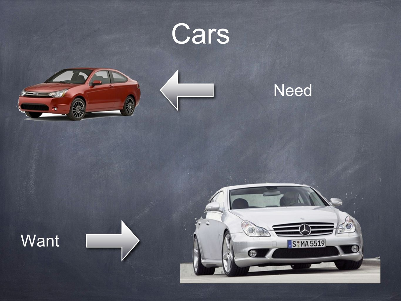 Cars Need Want