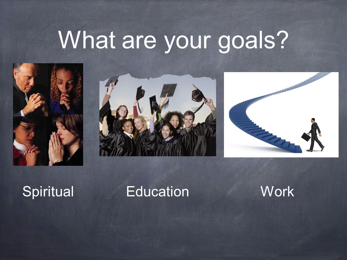 What are your goals? SpiritualEducationWork