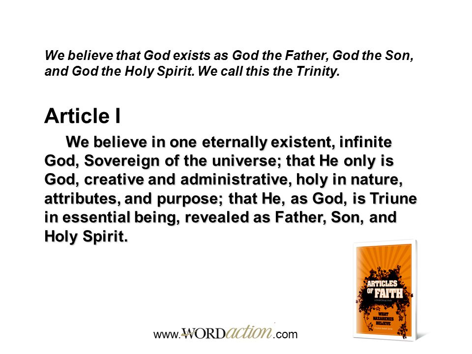 www..com Matthew 28:19-20 How does this passage relate to the Trinity.