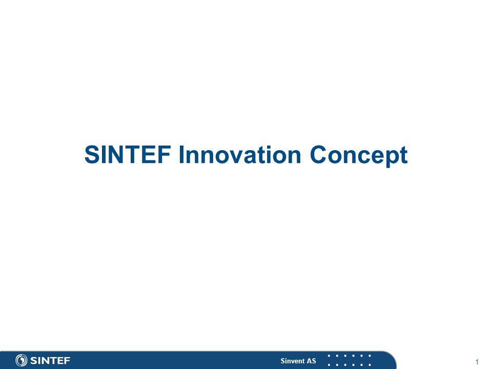 Sinvent AS 1 SINTEF Innovation Concept