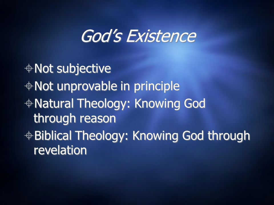 Other Objections  God doesn't' exist in the mind.