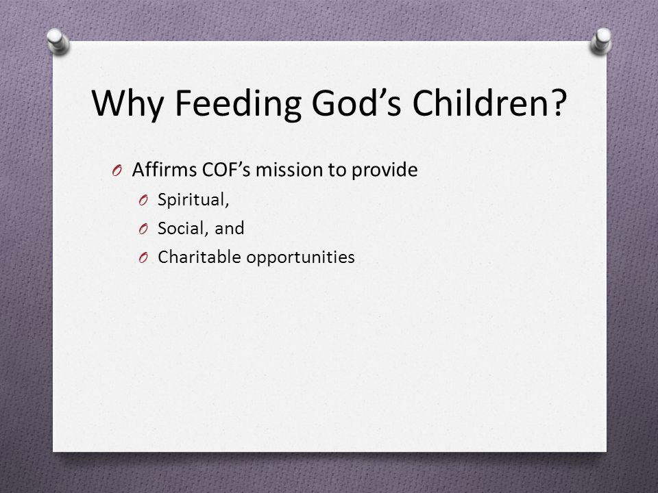 Why Feeding God's Children.