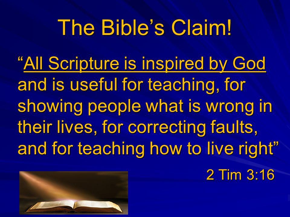 The Bible's Claim.