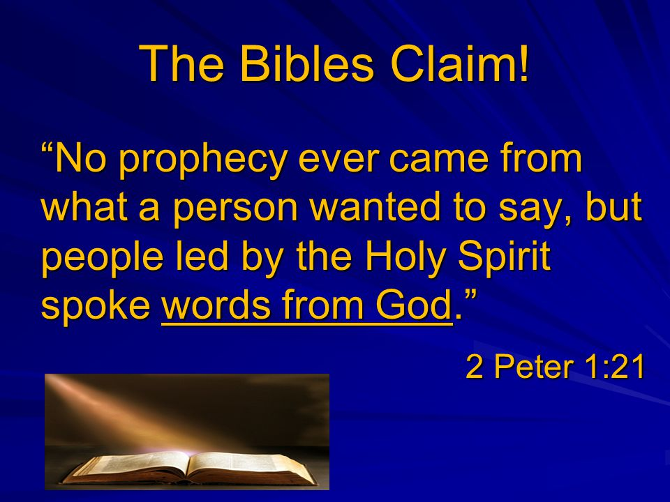 The Bibles Claim.