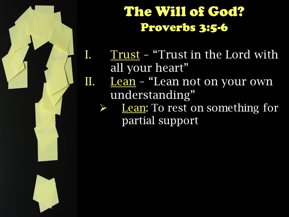The Will of God.