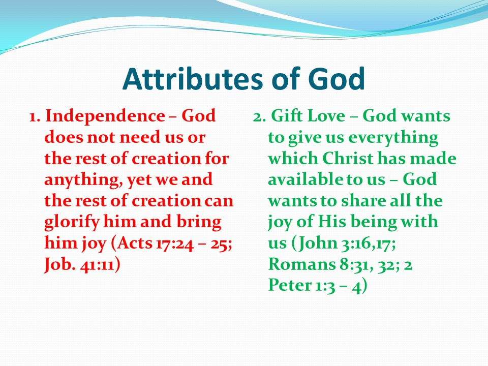 Attributes of God 1.