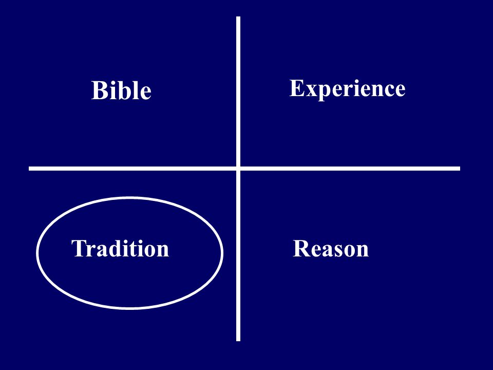 Bible Experience ReasonTradition