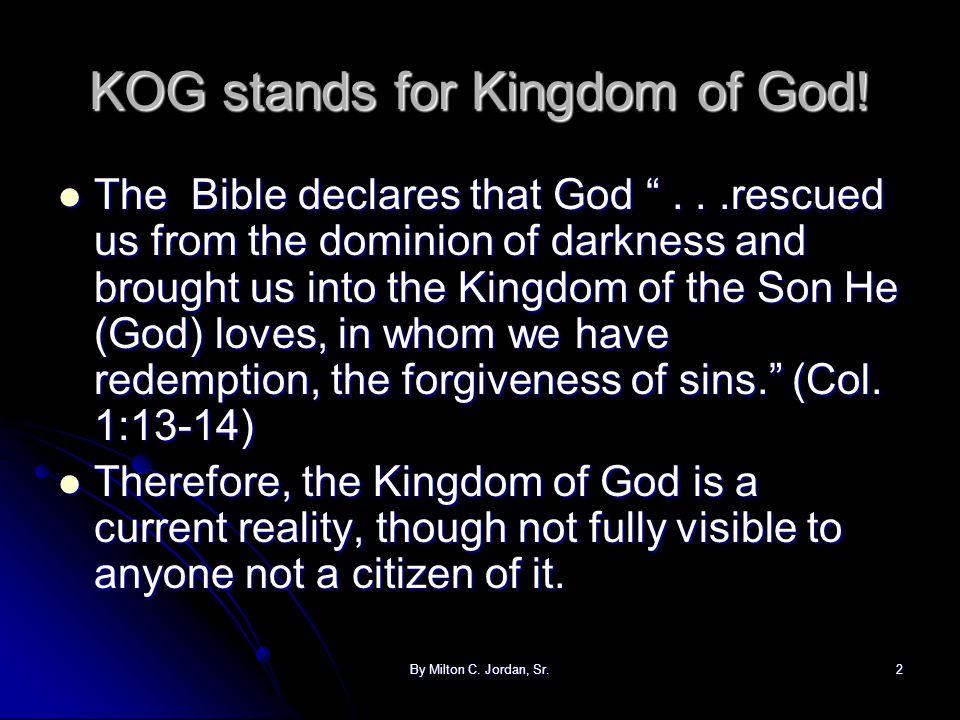 By Milton C.Jordan, Sr.3 Read Philippians 3:18-21 ...