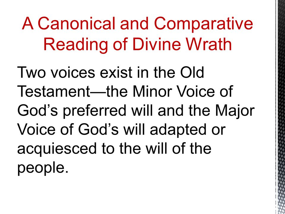 A Canonical and Comparative Reading of Divine Wrath