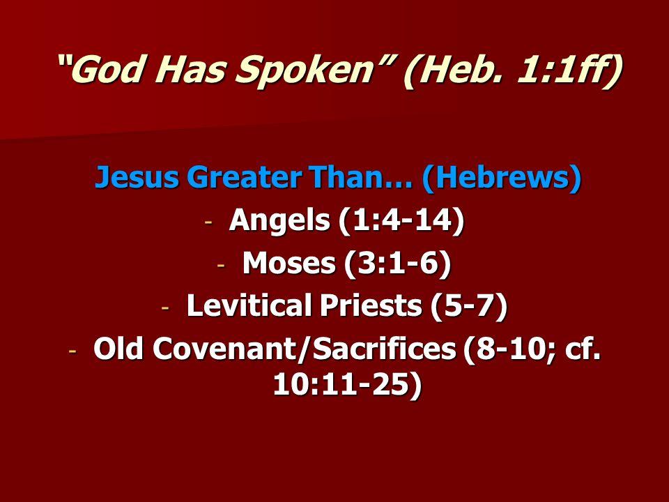 God Has Spoken (Heb.