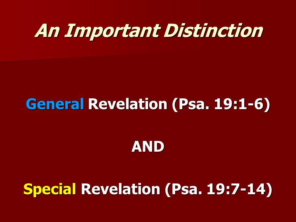 God Has Spoken (Heb.1:1ff) General Revelation (Psa.