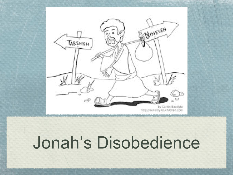 Jonah's Disobedience