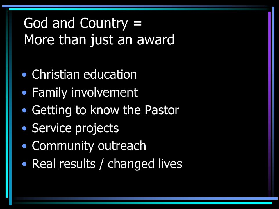 Eligibility requirements A.For members of all churches.
