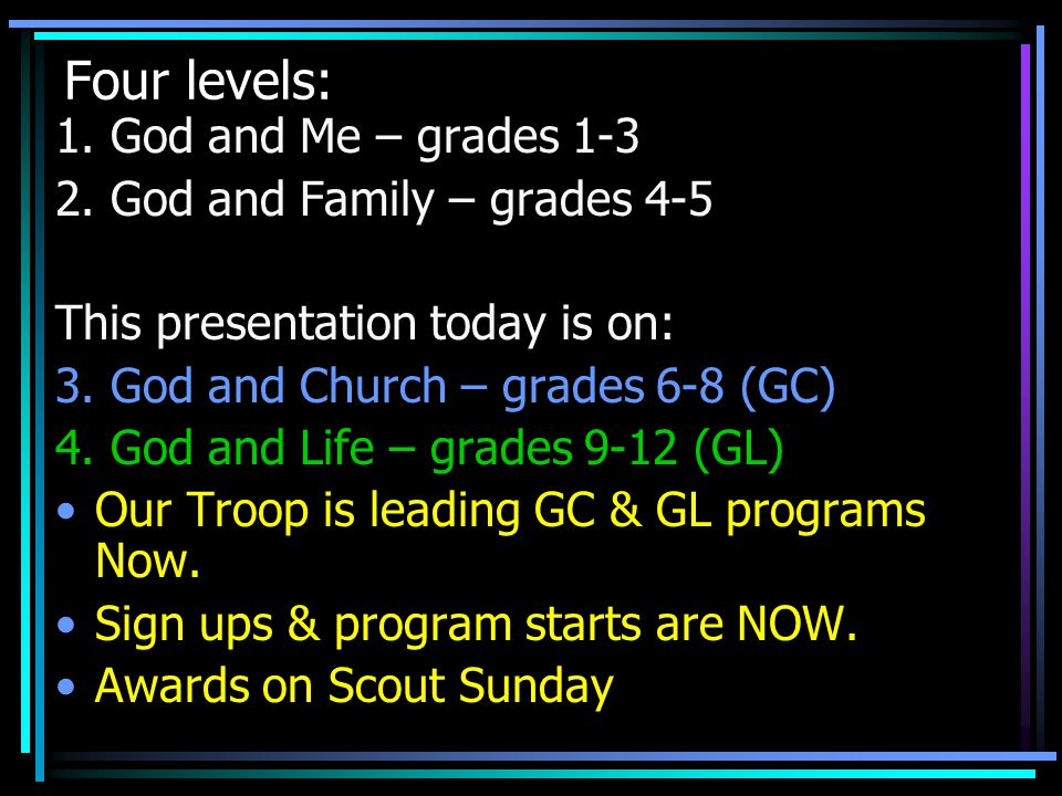 1.Eagle rank = Highest level in Scouting. 2.
